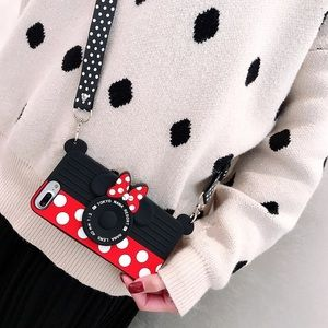 Minnie 3D Silicon Case with Shoulder Strap